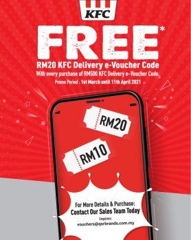 Kod e-Baucar Penghantaran KFC RM20 PERCUMA