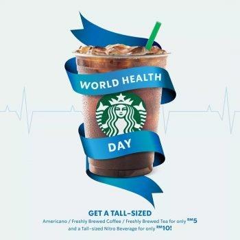 Promo Hari Kesihatan Sedunia Starbucks