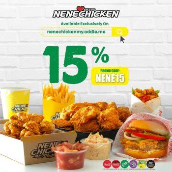Nene Chicken Extra 15% Diskaun Kod Promosi