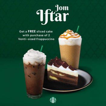 Kek kepingan Starbucks PERCUMA dengan pembelian 2 buah Frappuccino bersaiz Venti