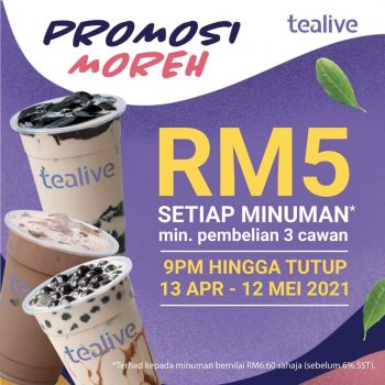 Minuman Tealive Dengan Promo Ramadan Hanya RM5