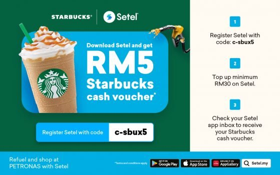 Setel App Voucher Starbucks RM5 Percuma