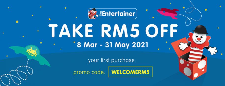 Kod Voucher RM5 Percuma di Kedai Mainan Penghibur