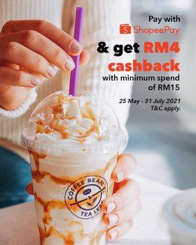 Biji Kopi & Daun Teh Percuma Pulangan Tunai RM4 dengan ShopeePay