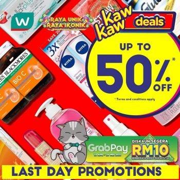 Tawaran Kaw Wawon Online Watson's Diskaun 50%