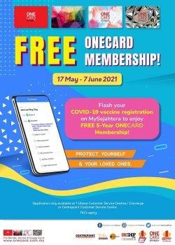 Keahlian OneCard 5 Tahun Percuma
