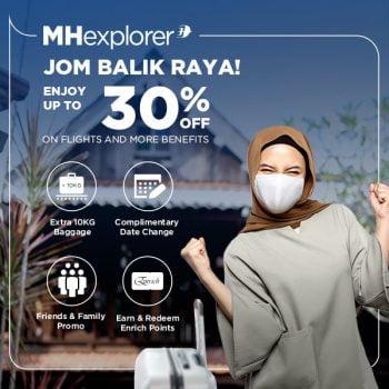 Jom balik Raya dengan Promosi Tambang 30% Diskaun Tambahan Malaysia Airlines