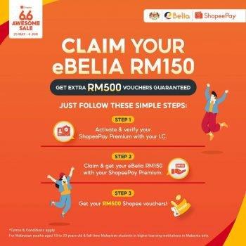 ShopeePay eBelia Voucher RM150 + RM500 Percuma