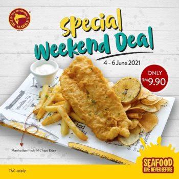 Manipan Fish Market N 'Chips dengan harga HANYA RM9.90