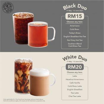 The Coffee Bean & Tea Leaf Promo Black & White Duo