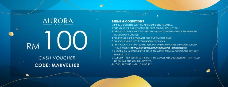 AURORA ITALIA Percuma Kod Voucher RM100 Hadiah Hari Ibu bapa