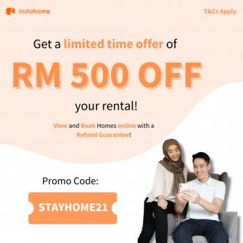 Nikmati DISKAUN RM500 untuk sewa rumah anda dari Instahome
