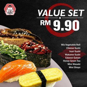 Papa Sushi VELUE SET RM9.90