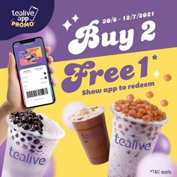 Tealive Buy 2 Free 1 Minuman Promosi