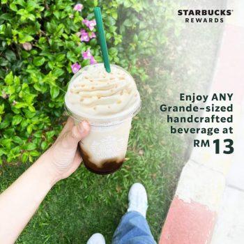Minuman buatan tangan bersaiz Starbucks Grande pada harga RM13