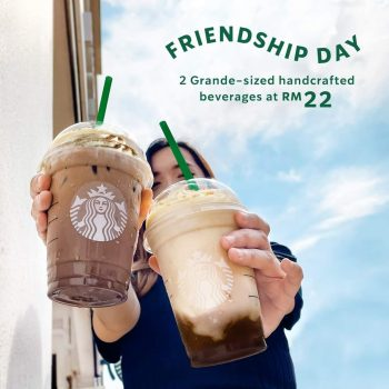 Starbucks DUA minuman buatan tangan bersaiz Grande pada harga RM22
