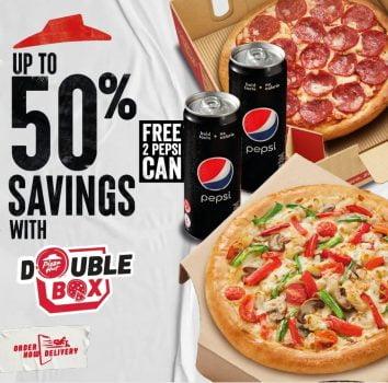 Minuman PERCUMA Pizza Hut + Promosi Penghantaran PERCUMA