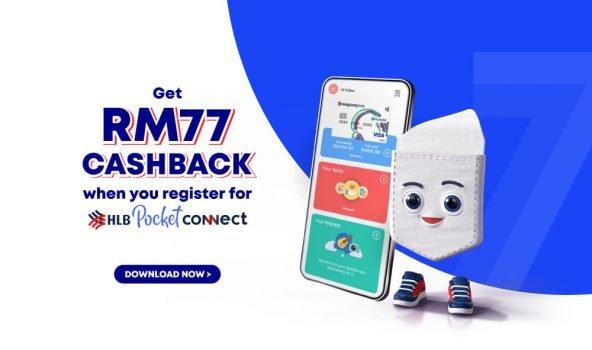 Aplikasi HLB Pocket Connect Percuma Wang Tunai RM77 dan Ais Krim Baskin Robbins