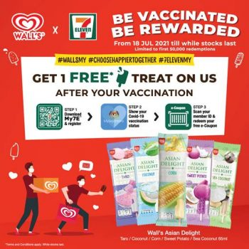 7-Eleven x Wall's Reward Vaksin rakyat Malaysia dengan Ice Delight Ice Cream