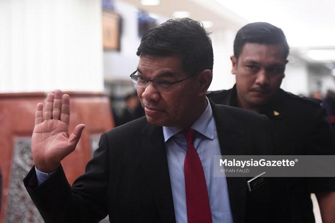 Menteri Perdagangan Dalam Negeri dan Hal Ehwal Pengguna (KPDNHEP), Datuk Seri Saifuddin Nasution Ismail ketika hadir pada pembentangan Belanjawan 2019 di Dewan Rakyat, Parlimen, Kuala Lumpur. foto AFFAN FAUZI, 02 NOVEMBER 2018.