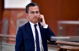 Member of Parliament (MP) of Lembah Pantai, Fahmi Fadzil at the Parliament for the Dewan Rakyat sitting. PIX: FAREEZ FADZIL / MalaysiaGazette / 21 NOVEMBER 2019 MySejahtera check out