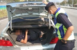A woman hid her stepson in the car trunk to travel inter-district merely to shop at a supermarket in Seberang Jaya yesterday.