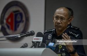 Selangor Chief of Police, Datuk Arjunaidi Mohamed . PIX: AFFAN FAUZI / MalaysiaGazette /18 APRIL 2021. murder suspect college student Damansara Perdana