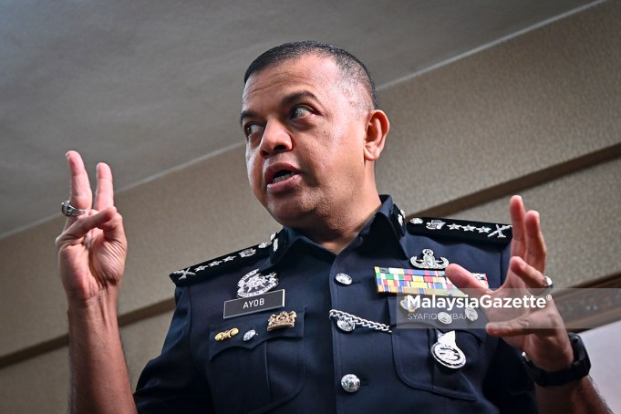 Chief Police of Johor, Datuk Ayob Khan Mydin Pitchay at an exclusive interview with MalaysiaGazette at eh Bukit Aman Police Headquarters in Kuala Lumpur. PIX: SYAFIQ AMBAK / MalaysiaGazette / 03 APRIL 2021 Nicky Gang related to the Founder or Winner Dynasty Group, Nicky Liow Soon Hee.