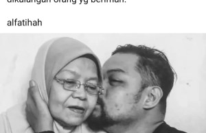 Her son, Faizul Hafiz Hashim Actress, Noryati Taib passed away