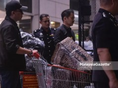 The items seized from residences related to former Prime Minister Datuk Seri Najib Razak. 1MDB money fund branded bags handbags Hermes Rosmah Mansor Najib Razak Nooryana Najwa Najib