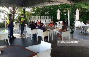 Five individuals were fined for gathering and socialising at a hotel in Batu Feringghi yesterday