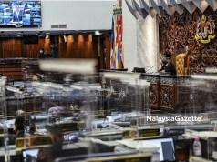 Dewan Rakyat sitting at the Parliament, Kuala Lumpur. convene reconvene