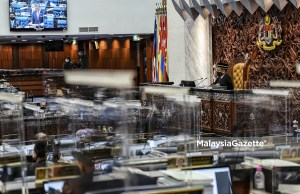 Dewan Rakyat sitting at the Parliament, Kuala Lumpur. convene reconvene hybrid Parliament
