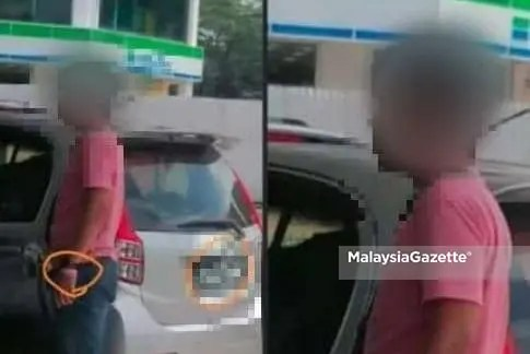 A man who wore 'pink bracelet' without face mask while fuelling up at a petrol station in Bentong has been arrested by the police for further investigation.
