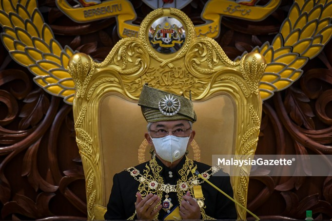 Yang di-Pertuan Agong, Al-Sultan Abdullah Ri'ayatuddin Al-Mustafa Billah Shah PM9 new Prime Minister motion of confidence