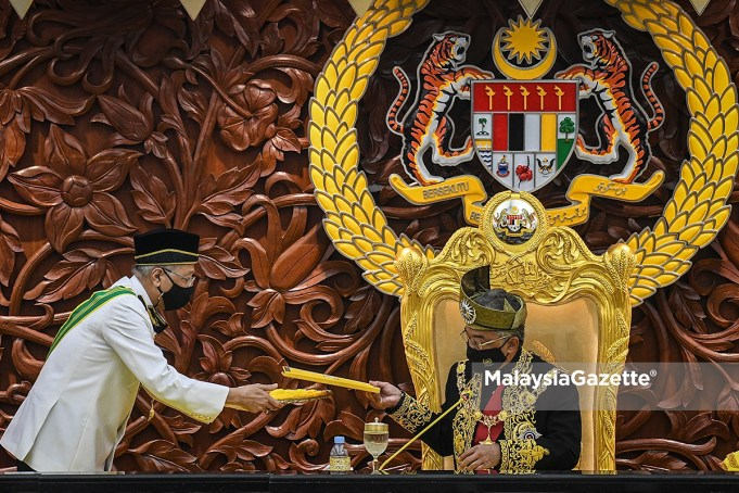 Agong Al-Sultan Abdullah Ismail Sabri Yaakob majority support Members of Parliament MPs Prime Minister PM