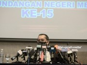 The Chairman of Election Commission (EC), Datuk Abdul Ghani Salleh at a news conference on announcement of Melaka State Election (EC). PIX: AMIRUL SHAUFIQ / MalaysiaGazette / 18 OCTOBER 2021