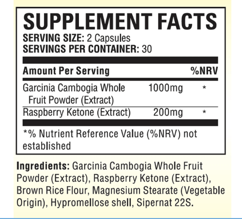 Garcinia Extra Ingredients