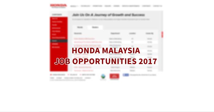 Honda Malaysia Careers 2017
