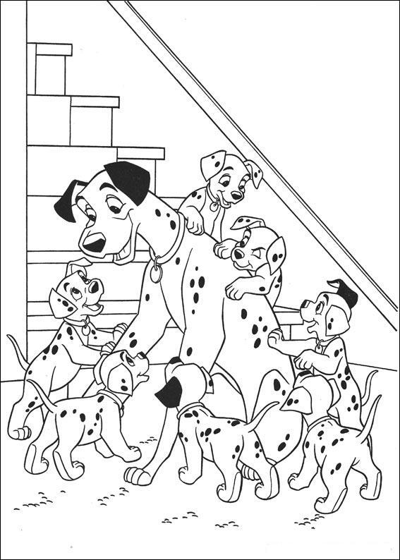 Disney Motive Ausdrucken Und Selbst Malen Dalmatiner