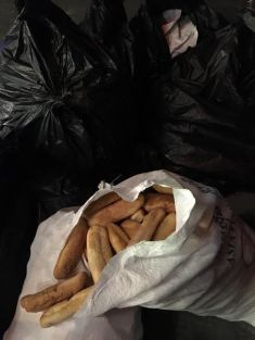 I passed this bread awaiting garbage pickup along with other refuse outside a one of a major chain's stores this week.