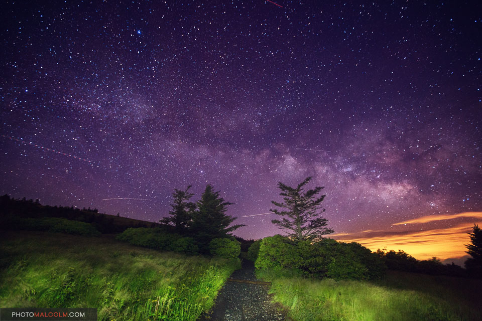 Image result for a trail in the night