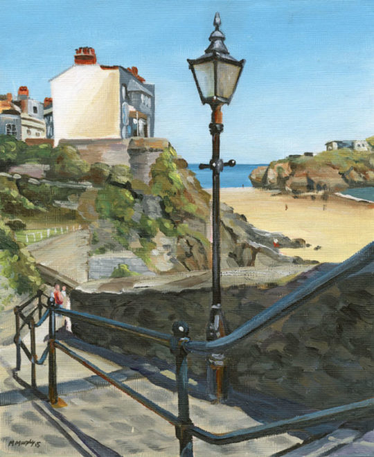 Tenby Steps Leading to South Beach