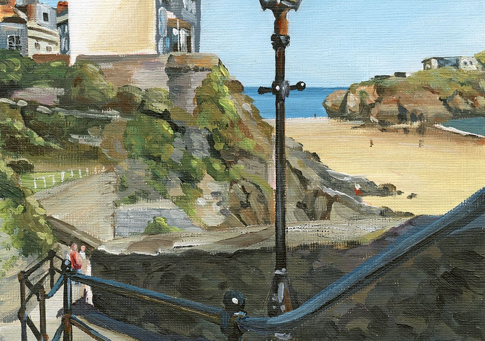 Tenby Steps Leading to North Beach