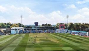 Glamorgan Cricket Club Painting