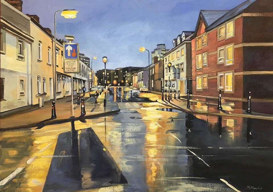 Evening Street Lights Adamsdown