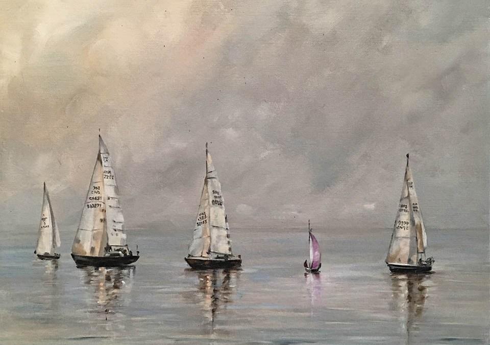 Sailing from Cardiff Yacht club Bristol Channel