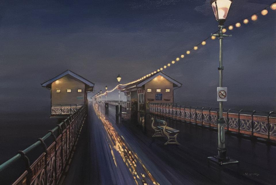 Penarth Pier at Night
