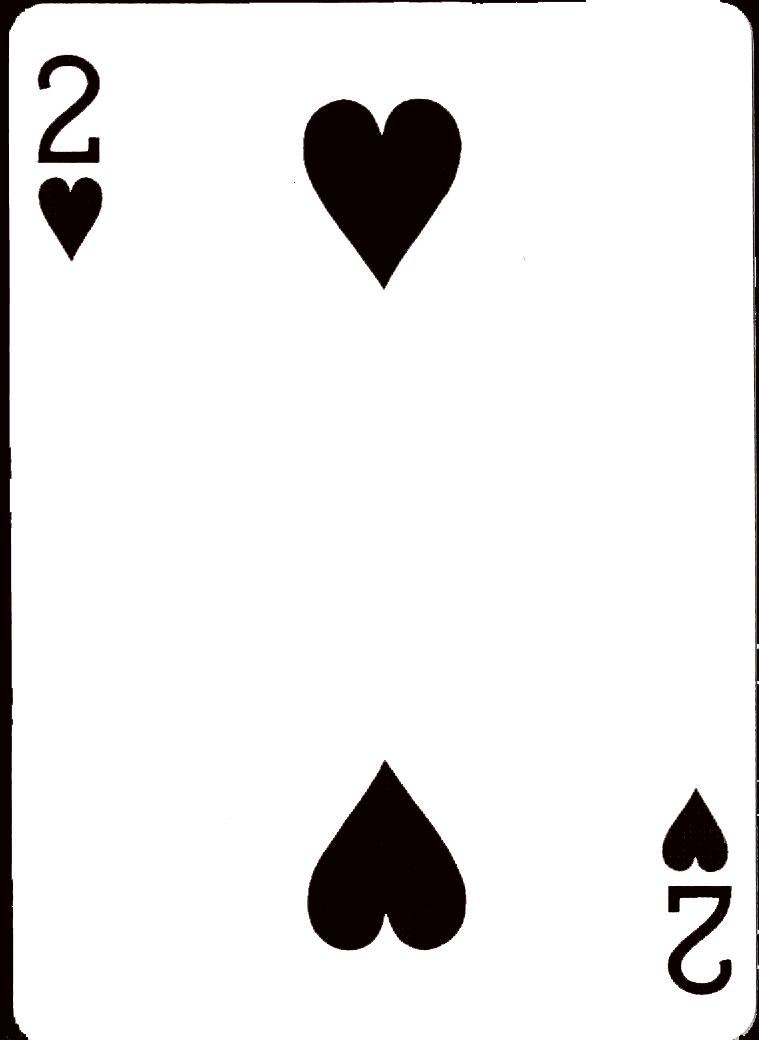 two of hearts black