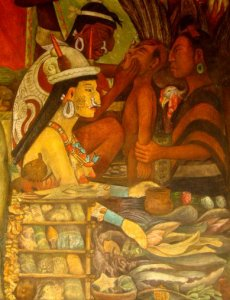Detail of Diego Rivera mural at National Palace, Mexico City. Photograph by Theresa Delgadillo